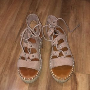 G by Guess Keeny Fabric Open Toe Espadrilles